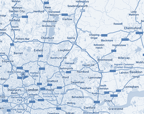 London Gas Areas Covered